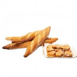 Llesques de pa amb tomàquet