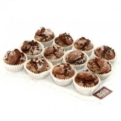 Magdalenas de chocolate sin...